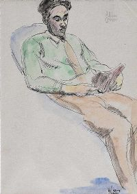 MAN READING by William Conor RHA RUA at Ross's Auctions