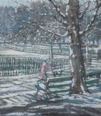 OUT FOR A WALK IN BOTANIC GARDENS by Kieran McGoran at Ross's Auctions