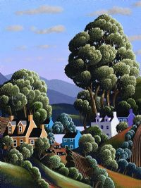 TALL TREES BY THE PURPLE HOUSE by George Callaghan at Ross's Auctions