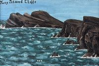 TORY ISLAND CLIFFS by Patsy Dan  Rodgers at Ross's Auctions