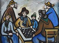 A GAME OF DRAUGHTS by Markey Robinson at Ross's Auctions