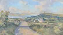 SCRABO TOWER & STRANGFORD LOUGH by Henry J. Foy at Ross's Auctions