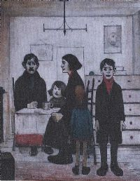 FAMILY GROUP by Laurence Stephen Lowry RA at Ross's Auctions