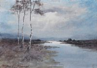 THREE TREES IN THE BOG, CONNEMARA by William Percy  French at Ross's Auctions