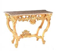 GILT CONSOLE TABLE at Ross's Auctions