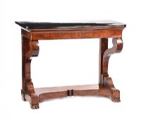 WILLIAM IV MARBLE TOP CONSOLE TABLE at Ross's Auctions