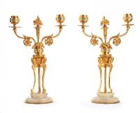 PAIR OF ANTIQUE GILT CANDELABRA at Ross's Auctions