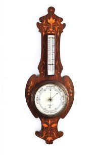 ART NOUVEAU INLAID BAROMETER at Ross's Auctions