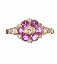 14CT GOLD RUBY AND DIAMOND RING at Ross's Jewellery Auctions