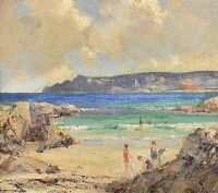 BATHING ON THE ANTRIM COAST by James Humbert Craig RHA RUA at Ross's Auctions