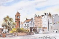 CLOCK TOWER, BANGOR, COUNTY DOWN by Martin Goode at Ross's Auctions