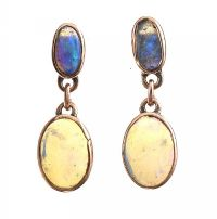 9CT GOLD OPAL EARRINGS at Ross's Jewellery Auctions