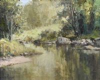 REFLECTIONS, DUN RIVER, CUSHENDUN by Maurice Canning  Wilks ARHA RUA at Ross's Auctions