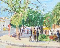 THE SQUARE, ALBUFEIRA, PORTUGAL by Robert Taylor  Carson RUA at Ross's Auctions