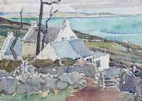 COTTAGES, WEST OF IRELAND by Olive Henry RUA at Ross's Auctions
