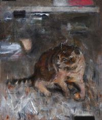 STUDY OF A CAT by Noel Murphy at Ross's Auctions