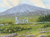 DUNLEWEY CHURCH AT MOUNT ERRIGAL by Sean Loughrey at Ross's Auctions