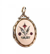 ANTIQUE 9CT GOLD FRONT AND BACK CRYSTAL-SET LOCKET at Ross's Jewellery Auctions