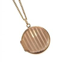 9CT GOLD LOCKET AND CHAIN at Ross's Jewellery Auctions