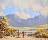 UNDER THE PINS, CONNEMARA by David Overend at Ross's Auctions