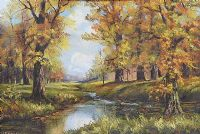RIVER THROUGH THE WOODS by Gladys M. Lawrence at Ross's Auctions