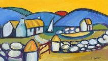 COTTAGES IN THE MOURNES by Lynda Moffett at Ross's Auctions