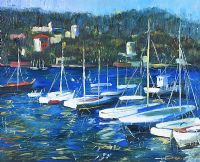 SAILING BOATS, SPANISH COAST by Sean at Ross's Auctions