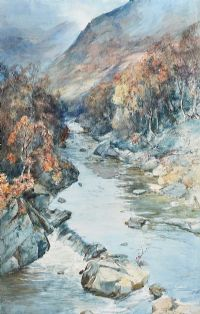 RIVER IN THE HIGHLANDS by J. Douglas RSW at Ross's Auctions