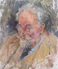 PORTRAIT OF JOHN HEWITT by Basil Blackshaw HRHA HRUA at Ross's Auctions