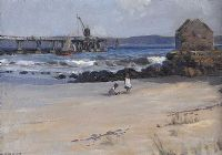 THE OLD PIER, BALLYCASTLE by James Humbert Craig RHA RUA at Ross's Auctions