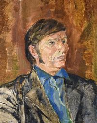 PORTRAIT OF JOSIE OWENS by Basil Blackshaw HRHA HRUA at Ross's Auctions