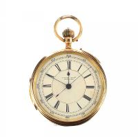 18CT GOLD OPEN-FACED GENT'S POCKET WATCH by Pocket & Fob Watches at Ross's Auctions