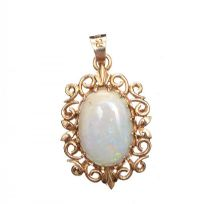 9CT GOLD OPAL PENDANT at Ross's Jewellery Auctions