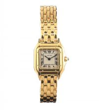 CARTIER 'PANTHERE' 18CT GOLD LADY'S WRIST WATCH at Ross's Auctions
