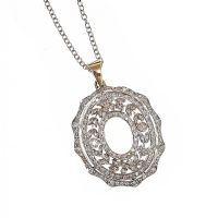 DIAMOND IN 18CT YELLOW GOLD PENDANT at Ross's Jewellery Auctions