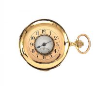 18CT GOLD GENT'S FULL HUNTER POCKET WATCH by Pocket & Fob Watches at Ross's Auctions