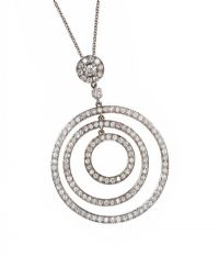 18CT WHITE GOLD DIAMOND PENDANT at Ross's Jewellery Auctions