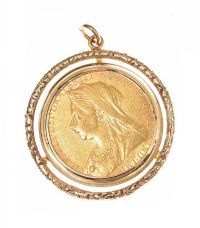 9CT GOLD MOUNTED FULL-SOVEREIGN at Ross's Jewellery Auctions