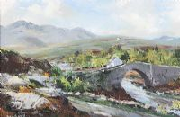THE LACKAGH BRIDGE, COUNTY DONEGAL by Kenneth Webb RUA at Ross's Auctions