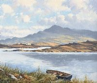 LAKE NEAR DUNGLOE, DONEGAL by William Henry  Burns at Ross's Auctions