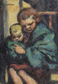 THE BABY SITTER by William Conor RHA RUA at Ross's Auctions