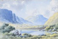 BLUE LOUGH, MOURNES, COUNTY DOWN by Ursula Spry at Ross's Auctions