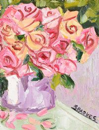 STILL LIFE, ROSES by Michael Sparkes at Ross's Auctions