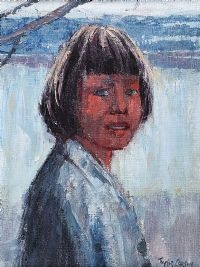 PORTRAIT OF A GIRL by Robert Taylor  Carson RUA at Ross's Auctions