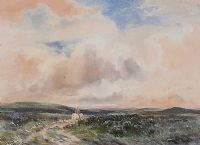 A MOORLAND TRACK by Wycliffe Egginton RI RCA at Ross's Auctions