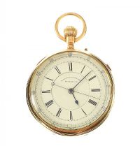 LARGE 18CT GOLD OPEN-FACED GENT'S POCKET WATCH by Pocket & Fob Watches at Ross's Auctions