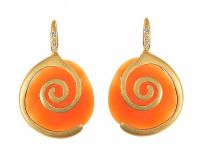 18CT GOLD AND CARNELIAN EARRINGS at Ross's Jewellery Auctions