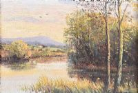 EVENING, LOWER LOUGH ERNE by William Cunningham at Ross's Auctions