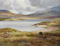 WINTER LOUGH INAGH, CONNEMARA, COUNTY GALWAY by Maurice Canning  Wilks ARHA RUA at Ross's Auctions