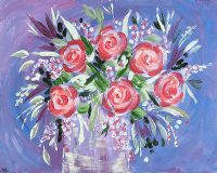 FLOWERS ARE HAPPY THINGS by Moyra Blayney at Ross's Auctions